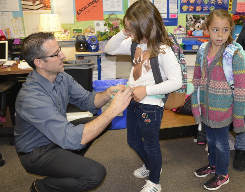 Chiropractor Dr. Mike Dornbusch with Gause students