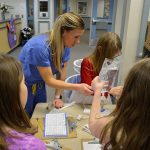 Nurse Andrea Weaver shares information about her profession with Gause Students