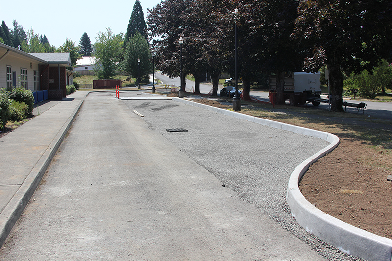 Gause front drive with asphalt removed