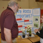 hathaway science fair with Paul Greenlee, Washougal City Council and Kadence Weimer