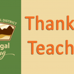 Thank you teachers with WSD Logo and Washougal Rising