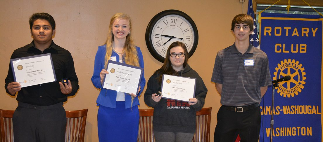 WHS Students Receive Paul Harris Award
