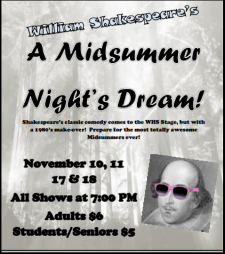 WHS Drama Presents A Midsummer Night's Dream