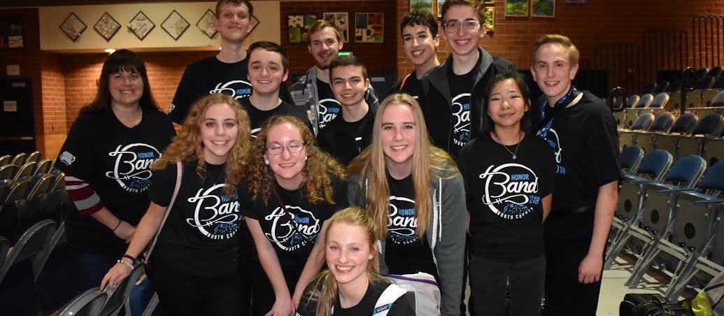 North County Honor Band @ Hockinson HS after Saturday Night's (1/20/18) performance