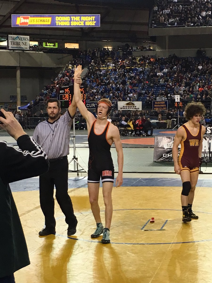 Tanner Lees is a State Champions at the 145 lb weight class! Congratulations Tanner!