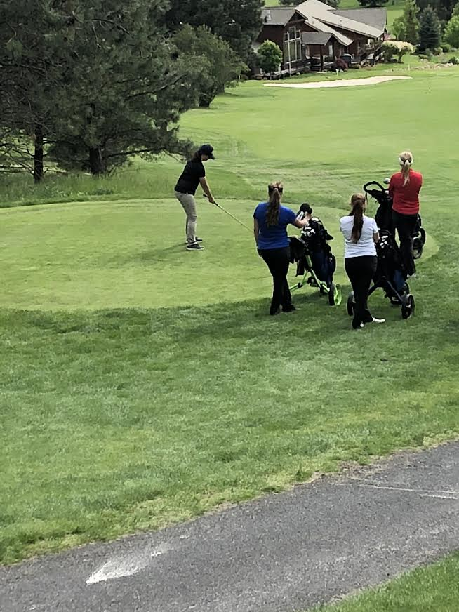 Corrin Kassel teeing out at state