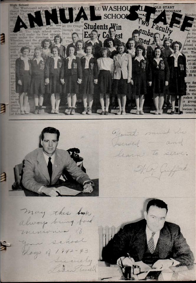 Vintage pictures from historic yearbooks