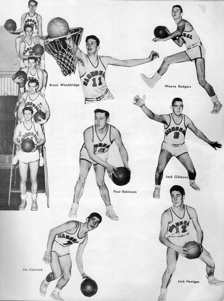 Basketball from the 1950's yearbook