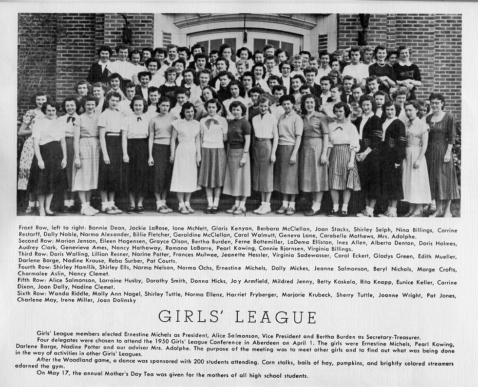 1950 Girls' League Photo