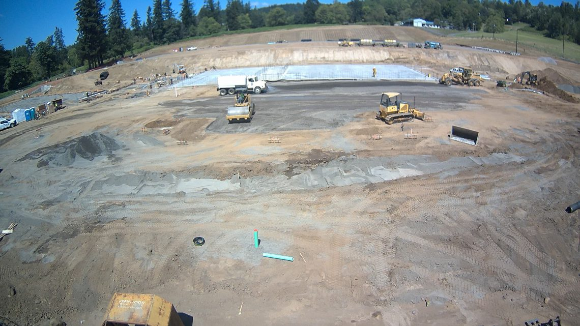 Picture of the Gymnasium foundations and footings for elementary wing of the new school