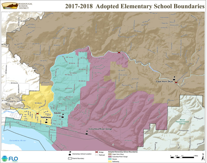 Map of boundaries for Elementary schools