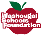 Washougal Schools Foundation logo with Red Apple