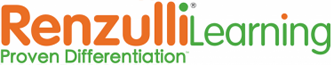 Renzulli Logo with RenzulliLearning Differentiation in Orange and Green